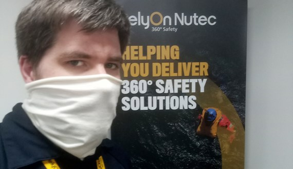 RelyOn Nutec Tests Critical Infection Control Face Protection for Offshore Helicopter Travel