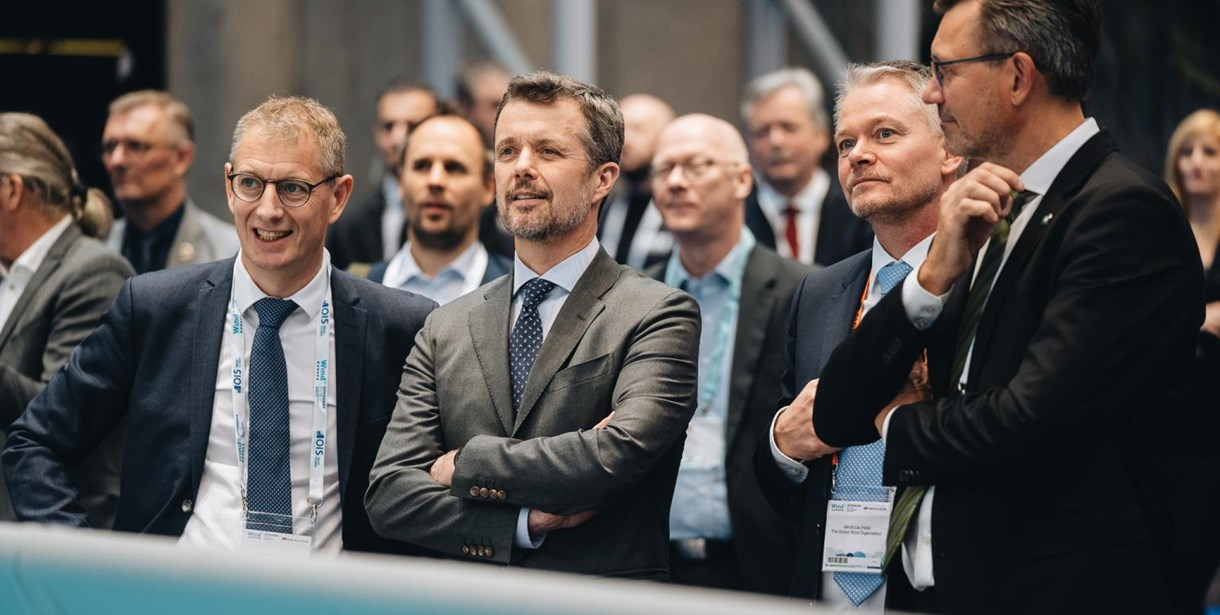 RelyOn Nutec CEO Torben Harring with Prince Frederik of Denmark at WindEurope Offshore 2019
